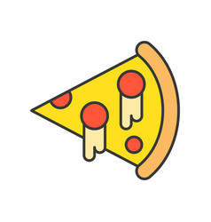 Pizza food and gastronomy set filled outline icon vector