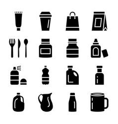plastic packaging solid set vector image