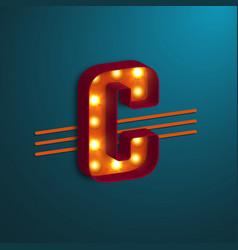 retro style letter c vector image