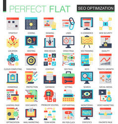 seo optimization complex flat icon concept vector image
