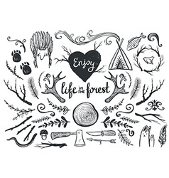 Set design elements and clip art themed around vector
