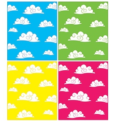 Set of cloud backgrounds vector image