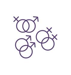 Sexual orientation rgb color icon vector