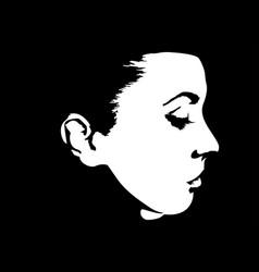 Sketch a woman face vector