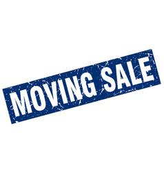 Square grunge blue moving sale stamp vector