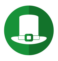 St patricks day hat icon shadow vector