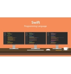 Swift programming language code vector image