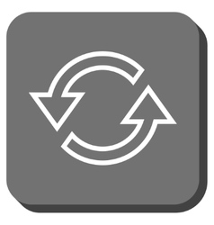 Sync Arrows Rounded Square Icon vector