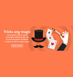 tricks and magic banner horizontal concept vector image