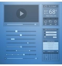 ui transparency flat design web elements vector image