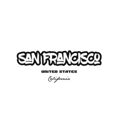 united states san francisco california city vector image