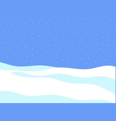 Winter landscape with falling snow flat style vector