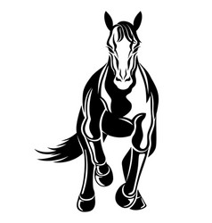 With galloping horse icon vector