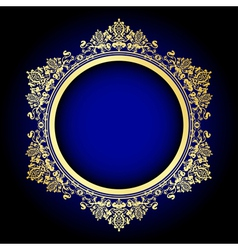 gold and blue frame vector image vector image