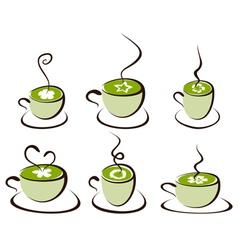mug with tea vector image vector image