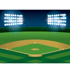 Baseball Field at Night vector image vector image