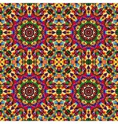 circular geometric seamless kaleidoscope pattern vector image