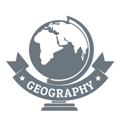 geography logo simple gray style vector image