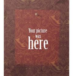 mark on vintage wallpaper vector image vector image