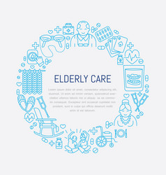 senior and elderly careline icon medical poster vector image