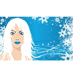 snow queen vector image vector image