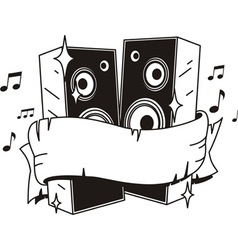 speakers tattoo vector image vector image