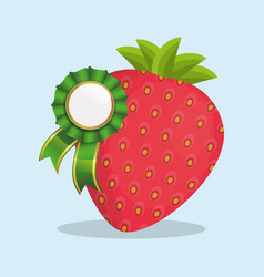 strawberry natural product quality vector image