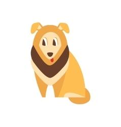 Collie Dog Breed Primitive Cartoon vector image vector image