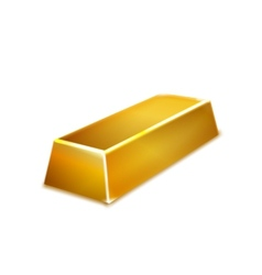 Gold bar isolated on white background vector