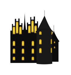 isolated haunted castle vector image