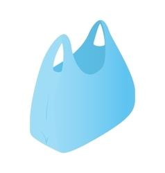 Plastic bag isometric 3d icon vector