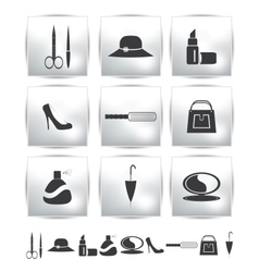 collection web icon Set pictogram vector image vector image