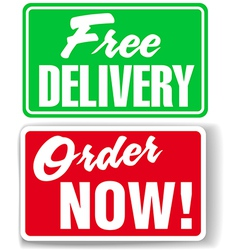 Free Delivery Order Now website ad icons signs vector image vector image