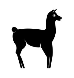 lama silhouette logo vector image vector image
