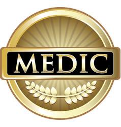 Medic gold label vector