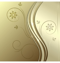 abstract golden background with ornament vector image