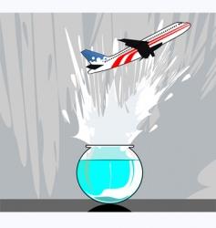 aeroplane flying vector image vector image