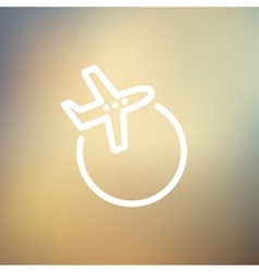 Airplane thin line icon vector image vector image