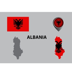 albania vector image