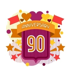 Anniversary abstract background with ribbon and vector image