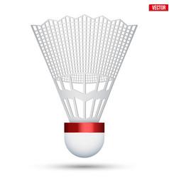 Badminton shuttlecock isolated vector