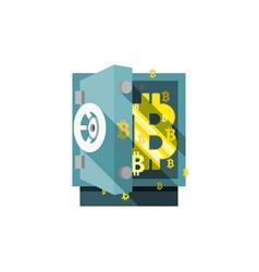 bitcoin safe vector image