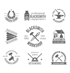 Blacksmith Label Set vector image