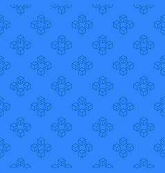 Blockchain blue pattern - seamless texture vector