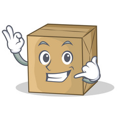 Call me cardboard character character collection vector