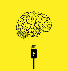 Charge your brain background vector