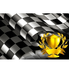 Checkered Background horizontal with cup vector image