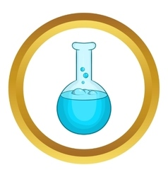 Chemical laboratory flask icon vector image