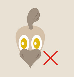 Chicken bird engraving drawn flat vector