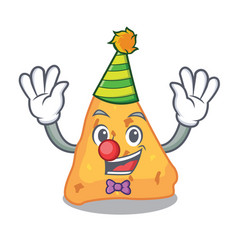 clown nachos mascot cartoon style vector image